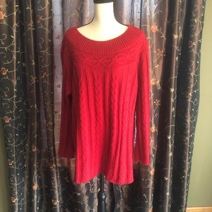 Gorgeous red sweater!! Size 22/24